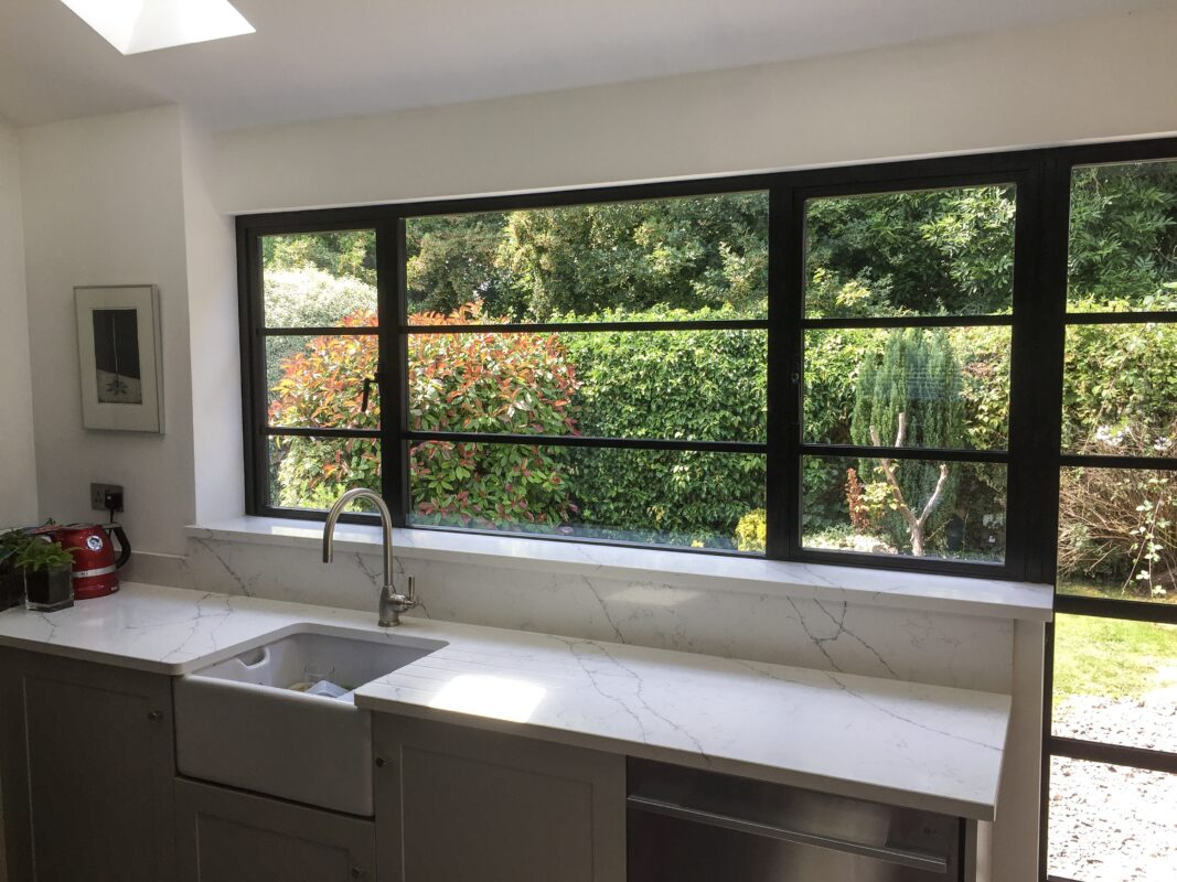 double glazing aluminium steel look windows wiltshire