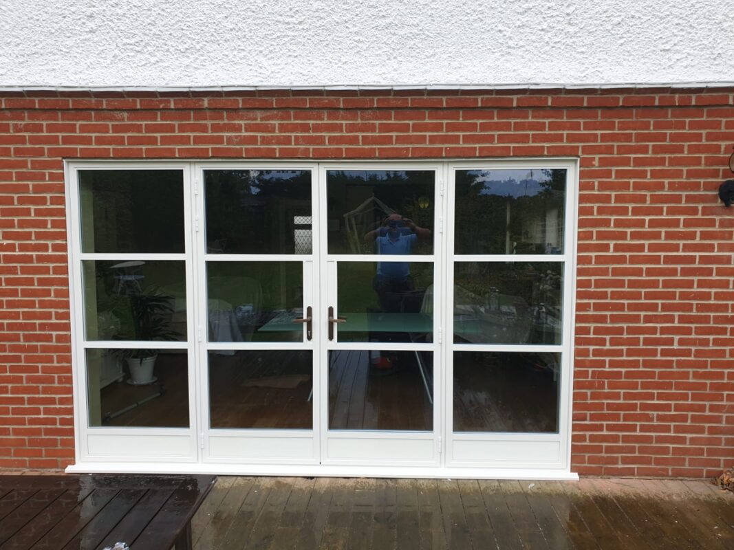 white a;luminium windows wiltshire