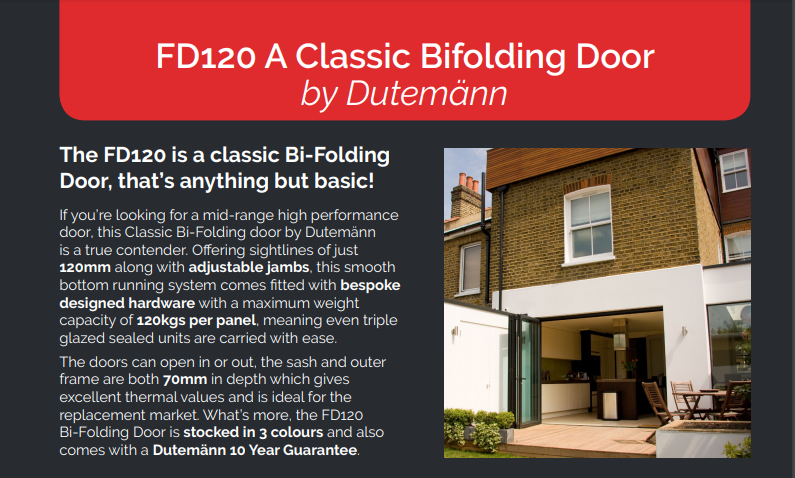 Dutemann FD120 Bifold Doors