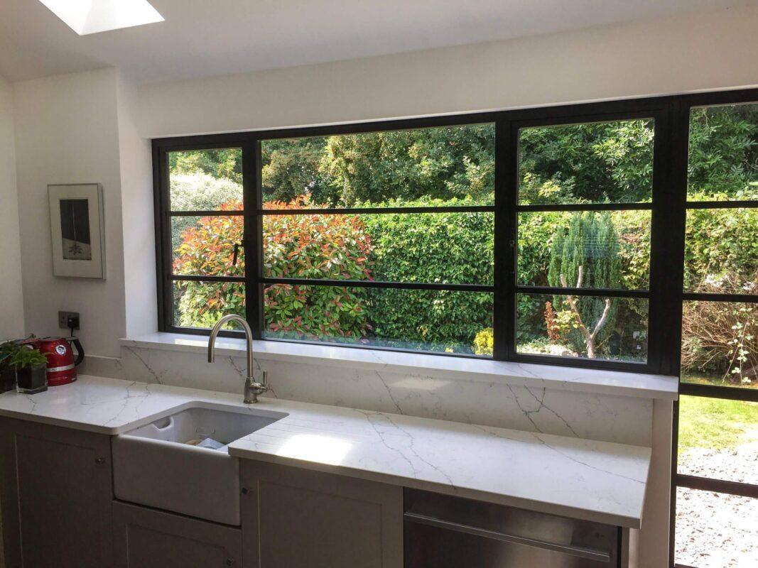 double glazing aluminium steel look windows wiltshire